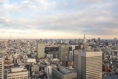 Tóquio, JAPÃO - 13 de fevereiro de 2017: Opinião da cidade do Tóquio Imagem de Stock Royalty Free