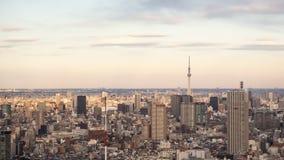 Tóquio, JAPÃO - 13 de fevereiro de 2017: Opinião da cidade do Tóquio Fotos de Stock Royalty Free