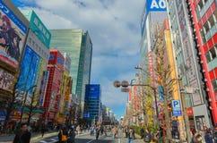 Tóquio, Japão - 24 de janeiro de 2016: Distrito de Akihabara no Tóquio, Japão Fotografia de Stock