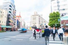 Tóquio, Japão - 15 de novembro de 2016: Cidade de Asakusa na manhã Asakus Fotografia de Stock