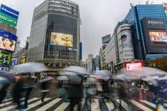 Tóquio, Japão - 24 de novembro de 2016: Cruz dos pedestres em Shibuya C Imagens de Stock
