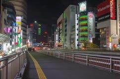 Tóquio, Japão - 18 de novembro de 2016: Distrito de Shijuku Fotos de Stock