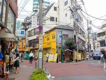 Tóquio, Japão - 28 de outubro de 2014: Distrito de Shimokitazawa imagens de stock