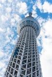 TÓQUIO, JAPÃO - 31 DE OUTUBRO DE 2017: Ideia do ` da torre da tevê a árvore celestial do ` do Tóquio Copie o espaço para o texto  fotos de stock royalty free