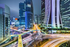 Tóquio Japão em Shinjuku ocidental Foto de Stock Royalty Free