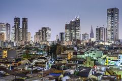 Tóquio Japão em Shinjuku ocidental Fotografia de Stock