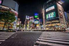 Tóquio, Japão - o cruzamento famoso de Shibuya imagens de stock royalty free
