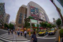 TÓQUIO, JAPÃO O 28 DE JUNHO - 2017: A construção de loja da câmera de Yodobashi em Namba, Yodobashi é uma da loja mega eletrônica Foto de Stock Royalty Free