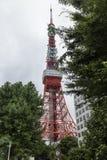 Tóquio - Japão, o 18 de junho de 2017: Torre do Tóquio, comunicações e Imagem de Stock