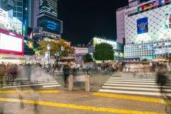 Tóquio, Japão, o 17 de novembro de 2016: Cruzamento de Shibuya da rua da cidade com Imagem de Stock
