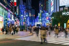 Tóquio, Japão, o 17 de novembro de 2016: Cruzamento de Shibuya da rua da cidade com Imagem de Stock Royalty Free