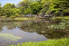 Tóquio, Japão, parque imperial do palácio Lagoa da carpa Fotos de Stock