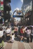TÓQUIO JAPÃO - SEPTEMBER12,2015: grande número de passeio do turista imagens de stock