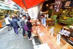 Tóquio: Mercado de peixes de Tsukiji foto de stock royalty free