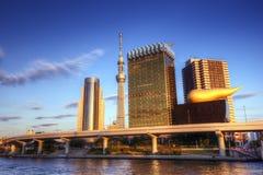 Tóquio no rio de Sumida imagem de stock royalty free