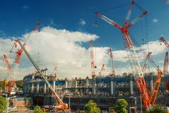 Tóquio o Estádio Olímpico Imagens de Stock