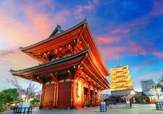 Tóquio - Sensoji-ji, templo em Asakusa, Japão Foto de Stock Royalty Free