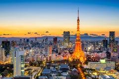 Tóquio, skyline de Japão Foto de Stock