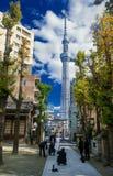 Tóquio Skytree e casamento foto de stock royalty free