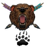 Tótem del oso del rugido Foto de archivo