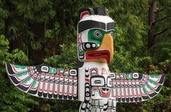 Tótem poste en Vancouver A.C. Foto de archivo libre de regalías