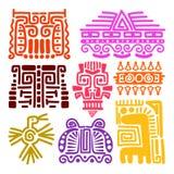 Tótemes antiguos de los indios americanos ilustración del vector