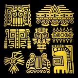 Tótemes antiguos de oro americanos stock de ilustración