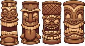 Tótemes de Tiki stock de ilustración