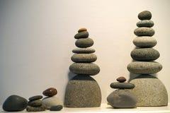 Tótemes equilibrados de la roca Foto de archivo libre de regalías