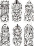 Tótems aztecas Imagen de archivo