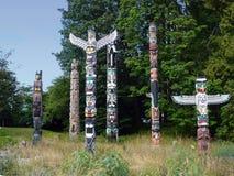 Tótems de Vancouver fotografía de archivo