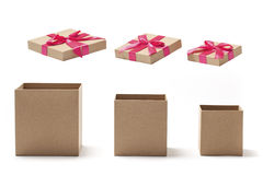 Töm öppna gåvaaskar Fotografering för Bildbyråer