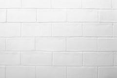 Töm av abstrakt vit bakgrund för tegelstenvägg Royaltyfria Foton