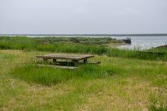 Töm bänken som förbiser den engelska breda flodmynningen Royaltyfri Bild