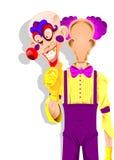Töm clownen Arkivfoto