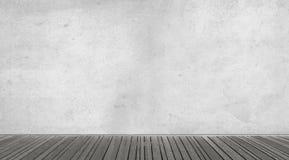 Töm den abstrakta inre med betongväggen Arkivbilder