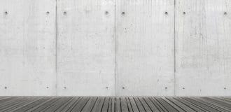 Töm den abstrakta inre med betongväggen Royaltyfri Bild
