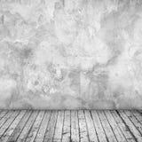Töm den abstrakta inre med betongväggen Fotografering för Bildbyråer