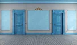 Töm den blåa tappninginre vektor illustrationer