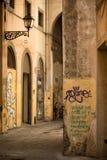 Töm den tillbaka gränden Florence Fotografering för Bildbyråer