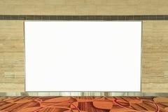 Töm den tomma advertizingaffischtavlan på väggen för ditt textmeddelande Royaltyfria Bilder