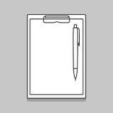 Töm den tomma skrivplattan med pennan Arkivbilder