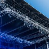 Töm etappen för en konsert Arkivfoton