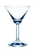 Töm exponeringsglas av martini Royaltyfria Bilder