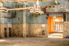 töm fabriken Arkivbild