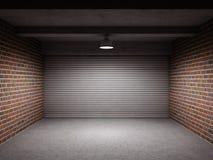 Töm garage Fotografering för Bildbyråer
