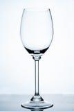 töm glass wine Royaltyfri Foto