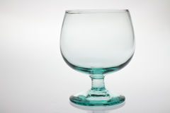 töm glass wine Royaltyfria Bilder