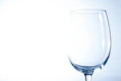 töm glass wine Arkivfoton
