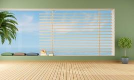Töm grön vardagsrum vektor illustrationer